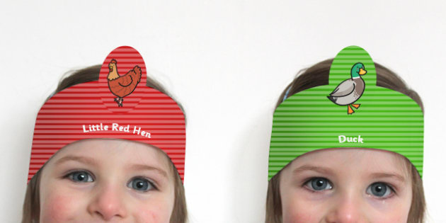 The Little Red Hen Role Play Headbands - stories, role play