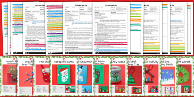 EYFS Christmas Craft Activities with Accompanying Planning Pack - eyfs, christmas craft, activities, accompanying, planning, pack