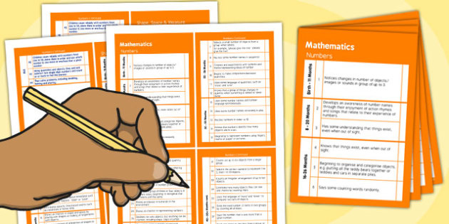 Pocket Sized EYFS Early Years Outcomes Tracking Document Mathematics