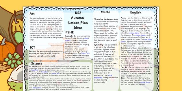 KS2 Autumn Lesson Plan Ideas - KS2 autumn, autumn, lesson plan, KS2 lesson plan, autumn lesson plan, ideas for lessons, lesson plan ideas, autumn lessons