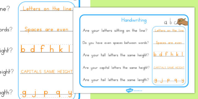 Handwriting Reminder Sheets - australia, handwriting, reminder, sheets, writing