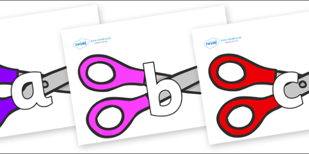 Phoneme Set on Scissors - Phoneme set, phonemes, phoneme, Letters and Sounds, DfES, display, Phase 1, Phase 2, Phase 3, Phase 5, Foundation, Literacy