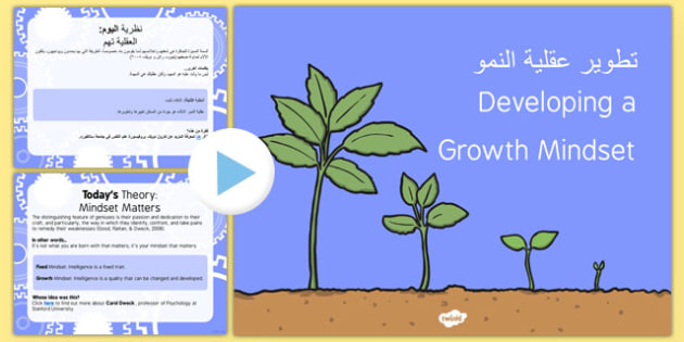 Growth Mindset PowerPoint Arabic/English