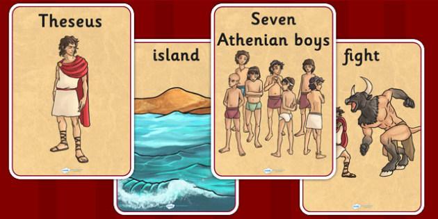 Theseus and the Minotaur Display Posters - theseus, minotaur