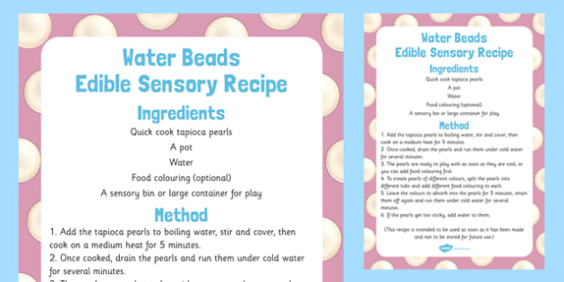Water Beads Edible Sensory Recipe - water, beads, edible, sensory recipe, recipe