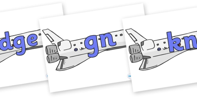 Silent Letters on Space Shuttles - Silent Letters, silent letter, letter blend, consonant, consonants, digraph, trigraph, A-Z letters, literacy, alphabet, letters, alternative sounds