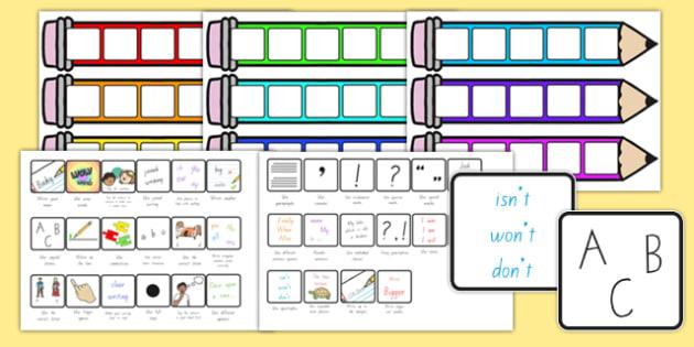 Writing Target Cards Pencils New Zealand - nz, new zealand, writing targets, writing target cards, editable, pencils, editable pencils, editable writing targets, targets