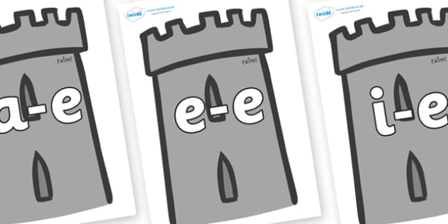 Modifying E Letters on Turrets - Modifying E, letters, modify, Phase 5, Phase five, alternative spellings for phonemes, DfES letters and Sounds