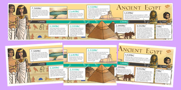 Ancient Egypt Timeline - egypt, egypt, timeline, display
