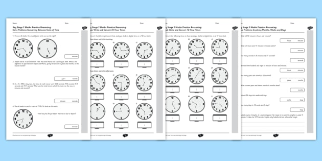 KS2 Reasoning Test Practice Measurement Time - Key Stage 2, KS2, Reasoning, Test, Practice, Measurement, Time