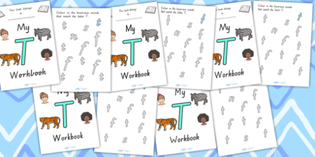 My Workbook T Uppercase - letter formation, fine motor skills