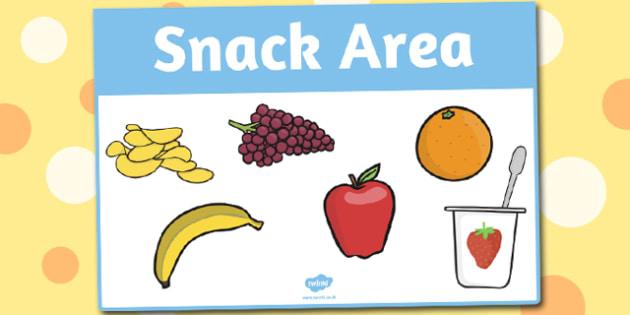 Snack Area Sign - area, sign, area sign, snack, snack area