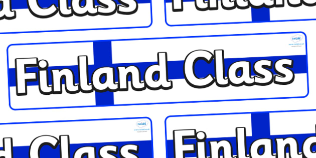 Finland Themed Classroom Display Banner - Themed banner, banner, display banner, Classroom labels, Area labels, Poster, Display, Areas