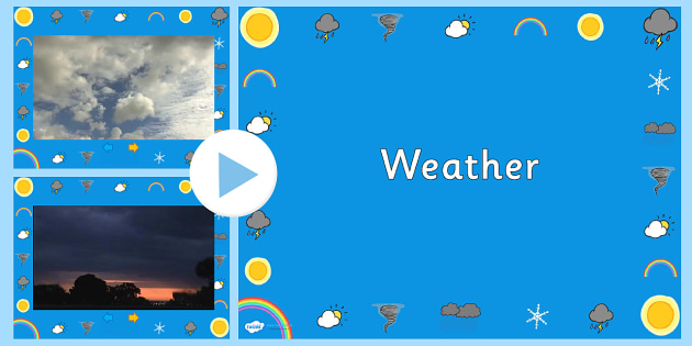 Weather Video PowerPoint - weather, weather powerpoint, weather videos, snow, lightning storm, clouds, rain, powerpoint, video powerpoint, rain video