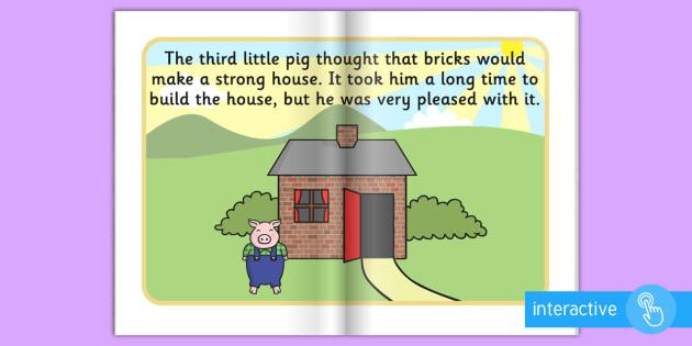 The Three Little Pigs eBook - books, interactive books, read