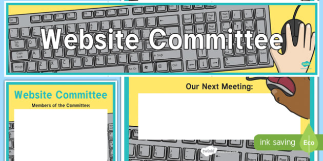 Website Committee Display Banner and Poster - website committee, display banner, display, banner