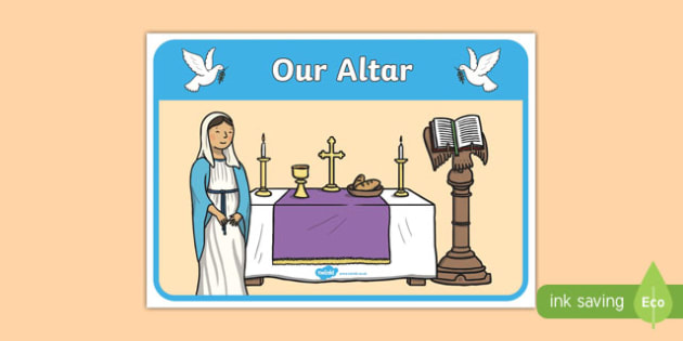 Our Altar Display Poster-Irish