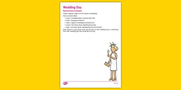 Elderly Care Life History Book Wedding Day Reminiscence Session - Elderly, Reminiscence, Care Homes, Life History Books