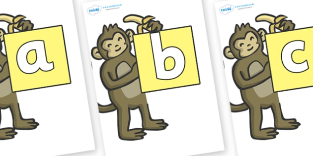 Phoneme Set on Monkeys - Phoneme set, phonemes, phoneme, Letters and Sounds, DfES, display, Phase 1, Phase 2, Phase 3, Phase 5, Foundation, Literacy