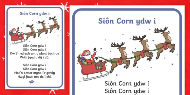 I'm Father Christmas Song Lyrics-Welsh