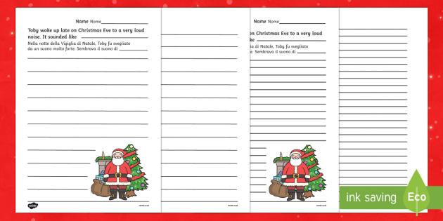 Christmas Story Starter Father Christmas English/Italian - Christmas Story Starter Father Christmas - christmas, xmas, story, christmas story, christmas story