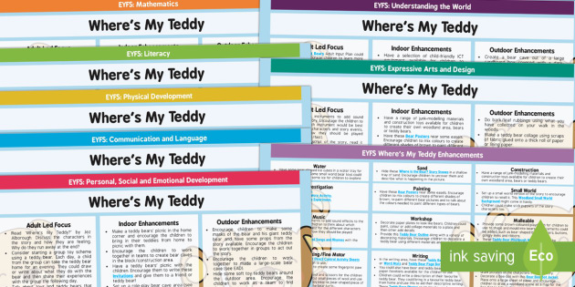 EYFS Lesson Plan and Enhancement Ideas to Support Teaching on Where's My Teddy? - wheres my teddy, EYFS