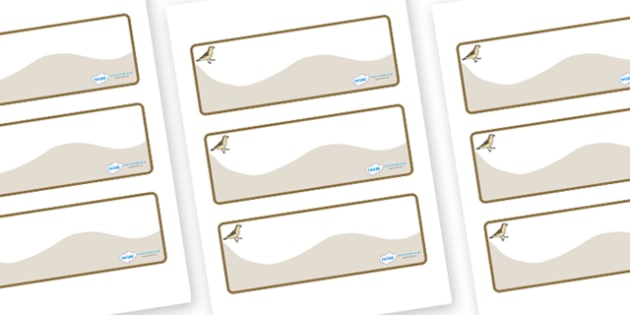 Sparrow Themed Editable Drawer-Peg-Name Labels (Colourful) - Themed Classroom Label Templates, Resource Labels, Name Labels, Editable Labels, Drawer Labels, Coat Peg Labels, Peg Label, KS1 Labels, Foundation Labels, Foundation Stage Labels, Teaching