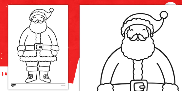 Father Christmas Colouring Sheet - father christmas, colouring, sheet, colour, christmas