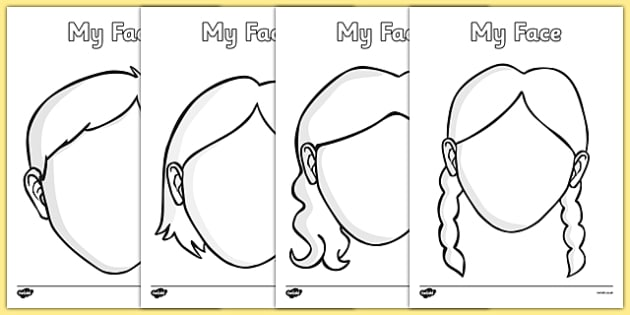 Faces Templates Printable Face Template – Printable Face Templates