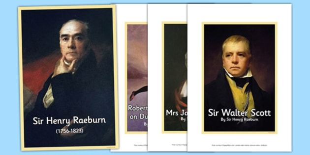 Scottish Artist Sir Henry Raeburn Photo Pack - cfe, scottish, artist, photo pack, photo, pack, sir henry raeburn