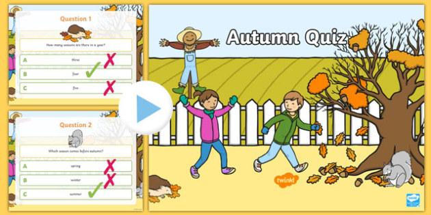 Autumn Quiz PowerPoint