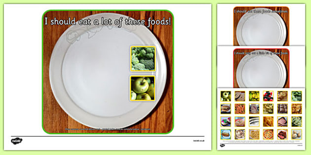 Photo Healthy Eating Sorting Activity - sorting, activity, photo, healthy eating