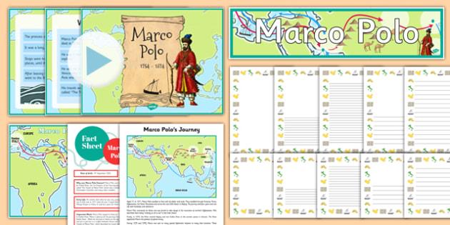 Marco Polo Lesson Pack - marco polo, lesson pack, lesson, pack, ks2