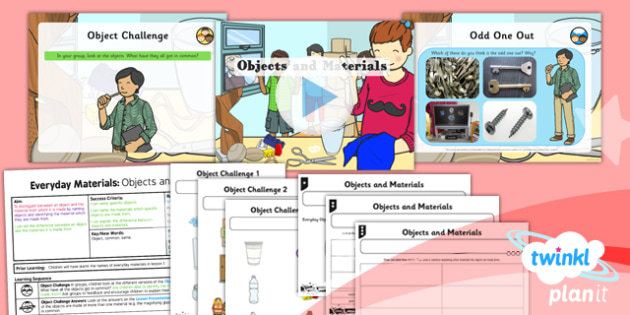 Science: Everyday Materials: Objects and Materials Year 1 Lesson Pack 2