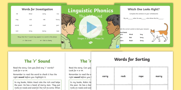 Northern Ireland Linguistic Phonics Stage 5 and 6 Phase 3a, 'r' Sound PowerPoint  - Linguistic Phonics, Stage 5, Stage 6, Phase 3a, Northern Ireland, 'r' sound, sound search, word