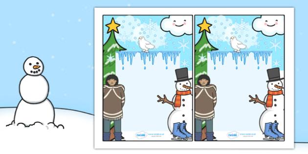 Winter Themed Editable Notes - winter, editable note, editable, notes, writing, classroom notes, themed note, teacher notes, themed page, page, winter themed