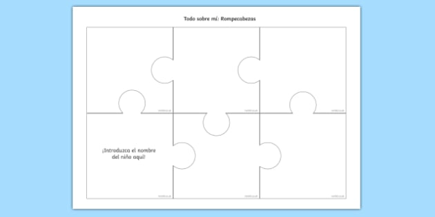 All About Me Jigsaw Spanish-Spanish