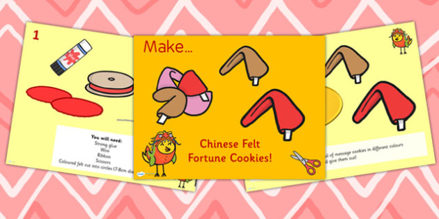 Chinese New Year Felt Fortune Cookies Instruction PowerPoint