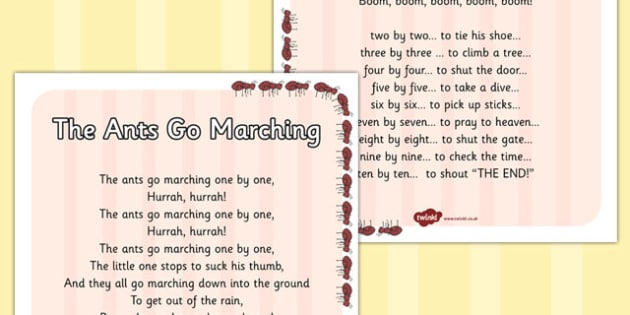 The Ants Go Matching Display Poster - display poster, display, posters, the ants go marching one by one, marching ants, ants display poster, minibeast display poster, ants poster, A4 posters, poster, classroom display posters