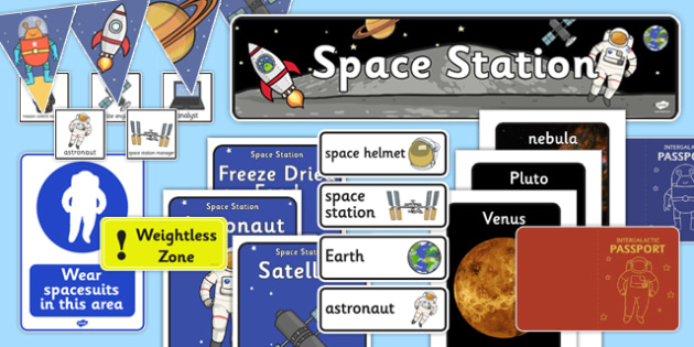 Space Station Role Play Pack-space station, role play, pack, space station pack, role play pack, role play materials, space role play, games