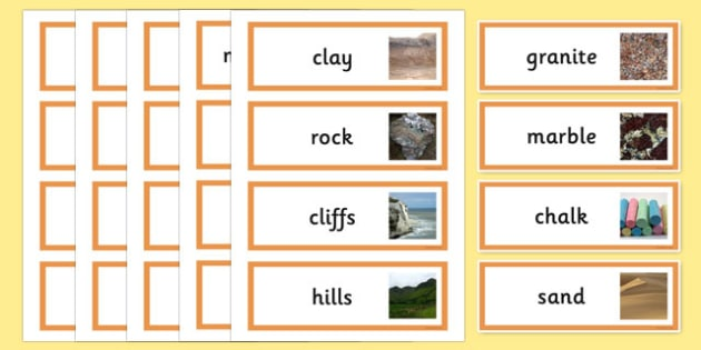 Rocks and soils topic word cards rocks stone rocks and for Soil facts ks2