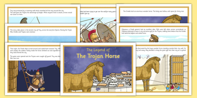 The Legend of the Trojan Horse Display Posters