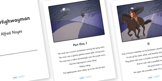 The Highwayman Poem Booklet - the highway man, highway man, highwayman poem, the highwayman poem, highwayman poem booklet, poem, ks2 poem, ps2 poetry
