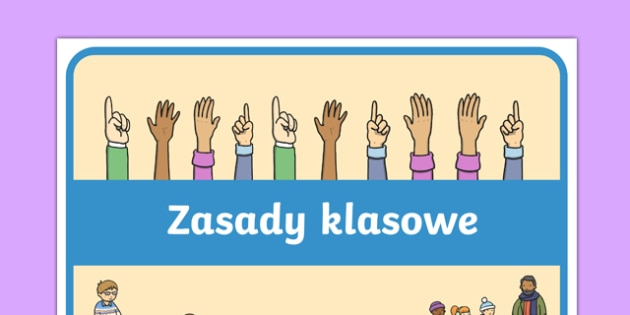 Plakat Klasowe zsady po polsku