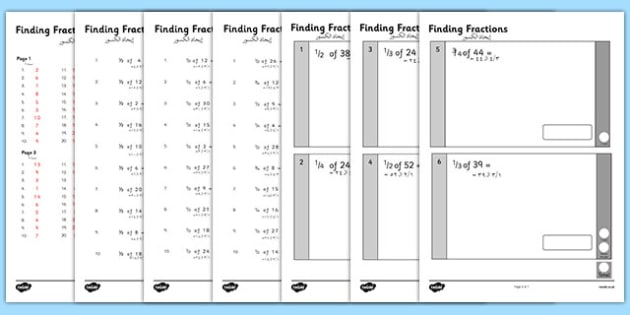 KS1 Arithmetic Content Practice Activity Sheets Finding Fractions of Quantities Arabic Translation - arabic, Maths, KS1, Key Stage 1, Arithmetic, fractions, half, quarter, third, three quarters, worksheet