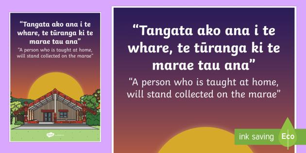 Whakatauki Tangata ako ana Display Poster Te Reo Maori/ English - maori, proverb, whakatauki
