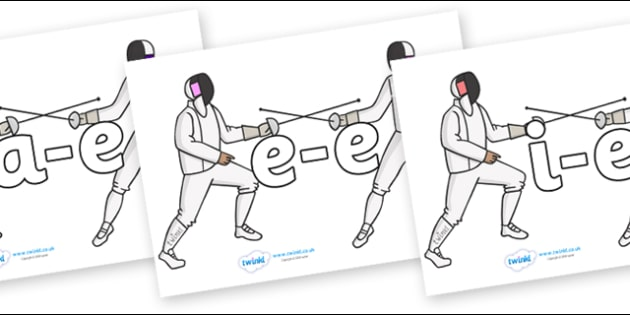Modifying E Letters on Fencing - Modifying E, letters, modify, Phase 5, Phase five, alternative spellings for phonemes, DfES letters and Sounds