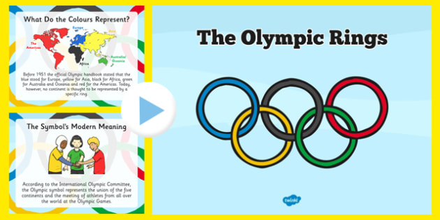 History of the Olympic Rings PowerPoint - history, olympics rings, powerpoint