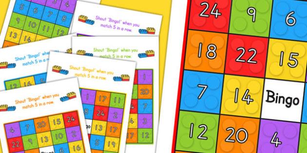 Building Bricks Themed Bingo - australia, building, brick, bingo