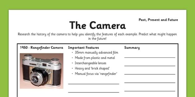 The Camera: Past, Present and Future - 35mm film, SLR, Brownie, polaroid, Kodak, Digital